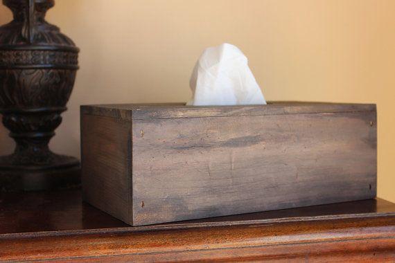 Primitive Tissue Box Barn Wood Kleenex Box by SouthernHomeSupply