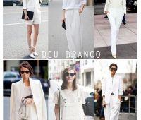 Começa a surgir nas passarelas e em sites de moda a tendência de looks totalmente branco, roupas, acessórios…tudo!