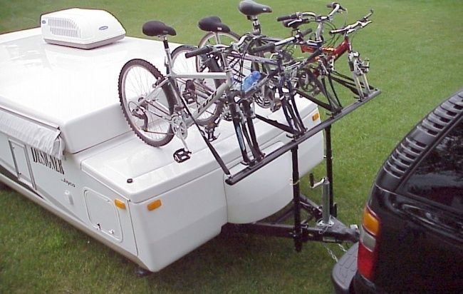 Bike carrier for camper trailer non woven flap disc