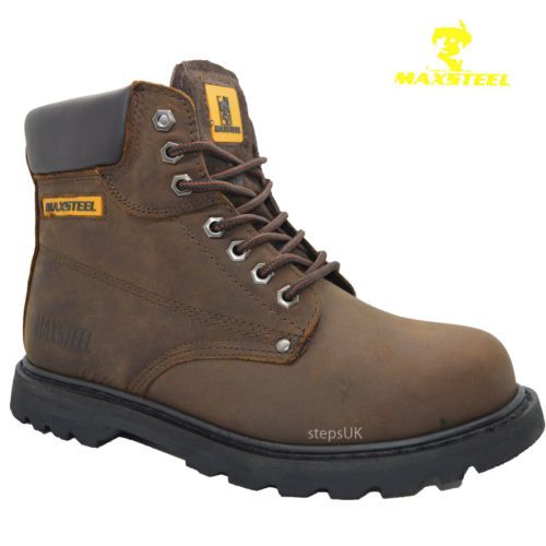 MENS-WORK-SAFETY-SHOES-LEATHER-BOOTS-STEEL-TOE-CAP-ANKLE-BOOTS-TRAINERS-SIZE4-13