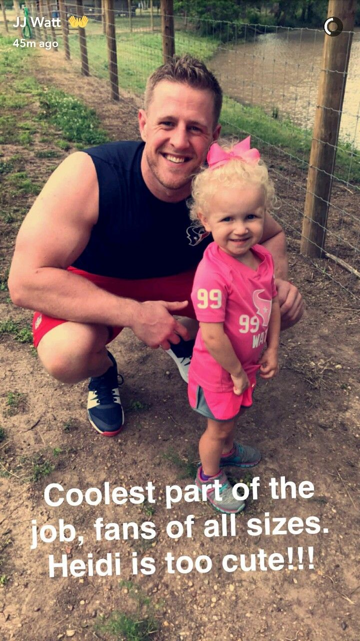 JJ Watt's Snapchat 4.25.17 - fan appreciation - #DreamBigWorkHard #HuntGreatness #JustAKidFromPewaukee #Justincredible