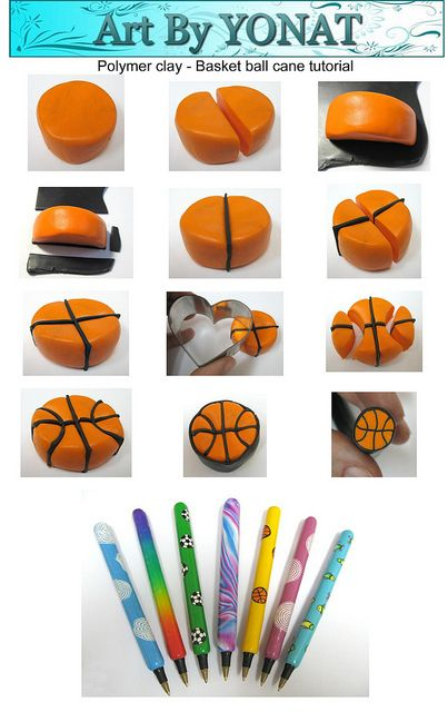 Polymer clay-basket-ball-cane-tutorial | Flickr - Photo Sharing!