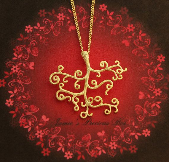 Golden Magic Tree Gold Plated Necklace Pendant  by JamiesQuilting, $13.50