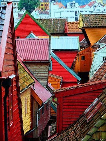Le quartier de Bryggen à Bergen en Norvège