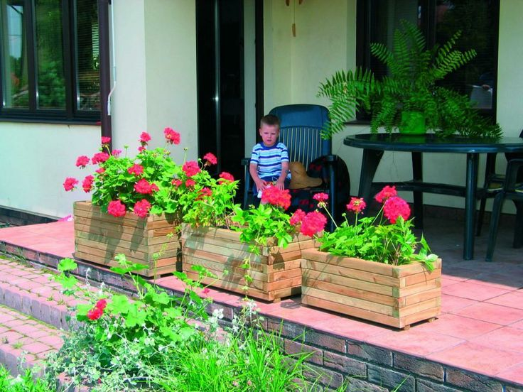 Donice drewniane produkcji Jagram SA