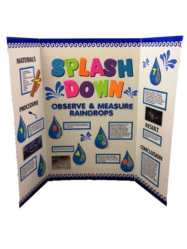 Splash Down Science Fair Poster Idea