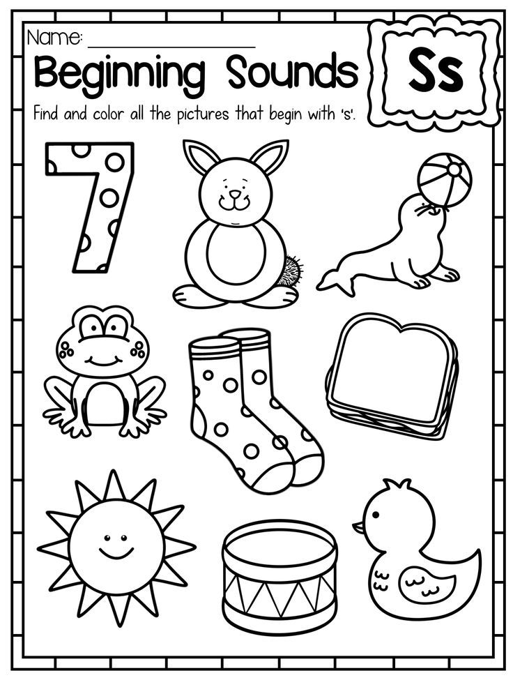 Beginning Sounds Worksheet. Letter S. These Beginning Sounds Worksheets are a great way for students to learn and practice the sounds of the alphabet. Students simply color the pictures that correspond with the specific letter sound they are working on. This pack is great for literacy centers, whole class activities, alphabet interventions and independent work.