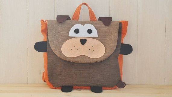 """Backpack """"Zagor"""" (Beautiful colors for this dog shape backpack, 100% cotton, adjustable straps, easy velcro closure and lining inside)"""