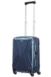 American Tourister Vivotec Small 4 Wheel Combination Suitcase Luggage - Blue.   eBay