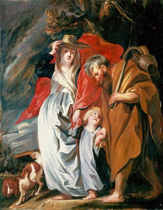 Йорданс, Якоб (1593-1678) - Возвращение Святого Семейства из Египта.