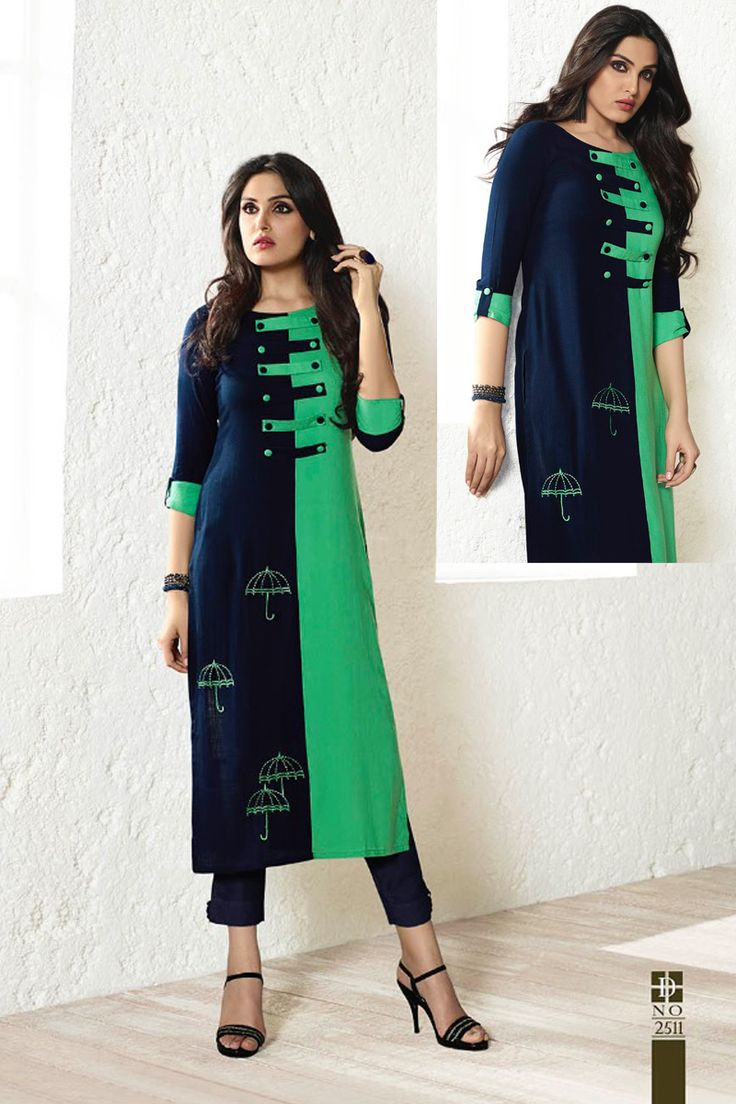 Blue-And-Rama-Green-Double-Color-Cotton-Gorgeious-Festive-Wear-Quater-Sleeves-Long-Kurti-2511-8502 #bulk #wholesale #wholesalesupplier #wholesaledealer #bulksupplier #bulkdealer #cotton #kurti #kurta #wholesaler #stylish  #kurtiwholesaler #kurtiwholesalesupplier #kurtibulksupplier #kurtibulkdealr #kurtawholesaler #suratwholesaler #latestkurtis #embroidery #embroidered #eventwear #printed # #LKFABKART