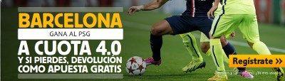 betfair Barcelona gana PSG cuota 4 champions 10 diciembre