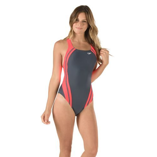 b56730230d6bd Speedo Women's Solid Quantum Splice 1-Piece Swimsuit | swim clothes in 2019  | Swimsuits, Swimwear, Swimming outfit
