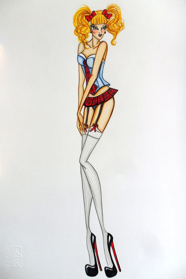 Stellita PinK StaR: Fashion design Lingerie collection figurino imb Milano