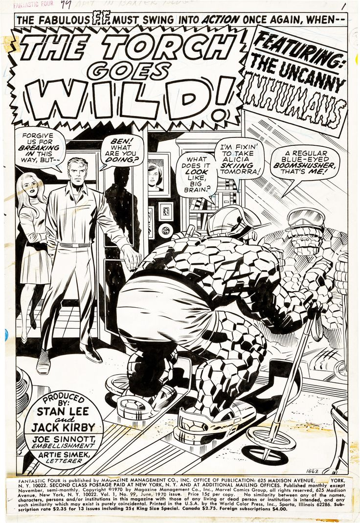 page 1 from Fantastic Four (1961) #99 by Jack Kirby, Joe Sinnott, Stan Lee and Artie Simek