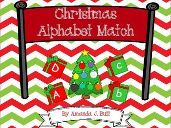 Christmas Alphabet Match; Special Education; Autism; Preschool; Pre-k; Kindergarten; Teacherspayteachers; homeschool; centers; In this packet, you will receive: ★ Uppercase Alphabet Mats ★ Lowercase Alphabet Mats ★ Uppercase alphabet cards for matching ★ Lowercase alphabet cards for matching ★ -match uppercase to uppercase ★ -match lowercase to lowercase ★ -match lowercase to uppercase