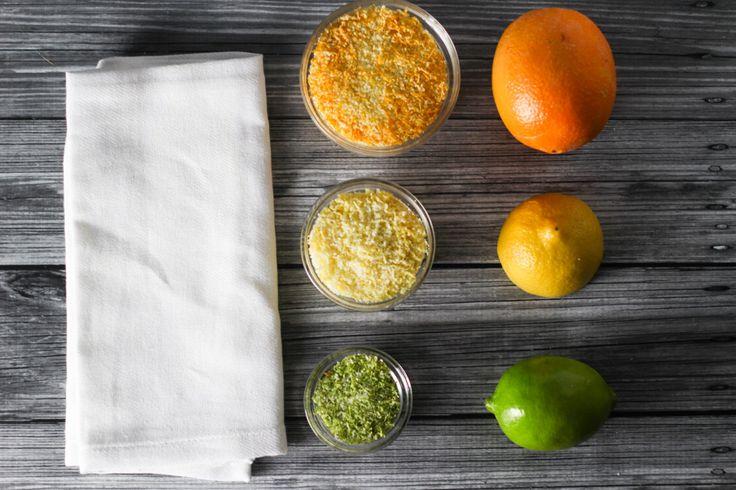 Easy Citrus Salts - Made with Kosher Salt and Citrus Zest.