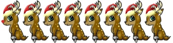 Cartoon Reindeer Christmas Clipart at www.wonderweirded-creatures.com , from Santa and His Reindeer to Roduolph and his red nose  Free Cute Ccartoon Creatures Clipart   LOVE IT !!!