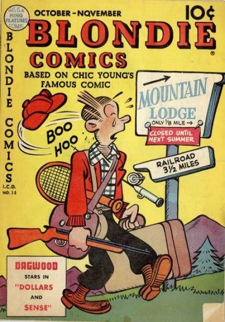 Blondie Vintage Comic Book - Dagwood goes hunting