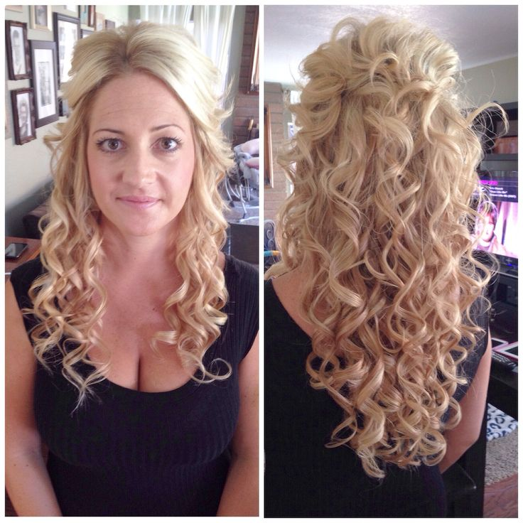 Pleasing Wedding Hair Half Hair Half Up And Long Curly Hair On Pinterest Short Hairstyles For Black Women Fulllsitofus