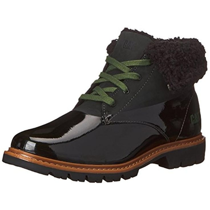 Caterpillar Womens Hub Leather Faux Fur Ankle Boots