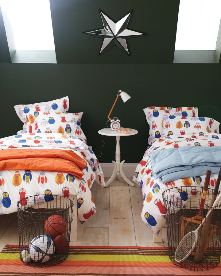 Owl Percale Bedroom Collection: Kids Beds, Percal Bedrooms, Owl Percal, Owl Beds, Tessa Bedrooms, Bedrooms Organi, Bedrooms Collection, Percal Beds, Kids Rooms