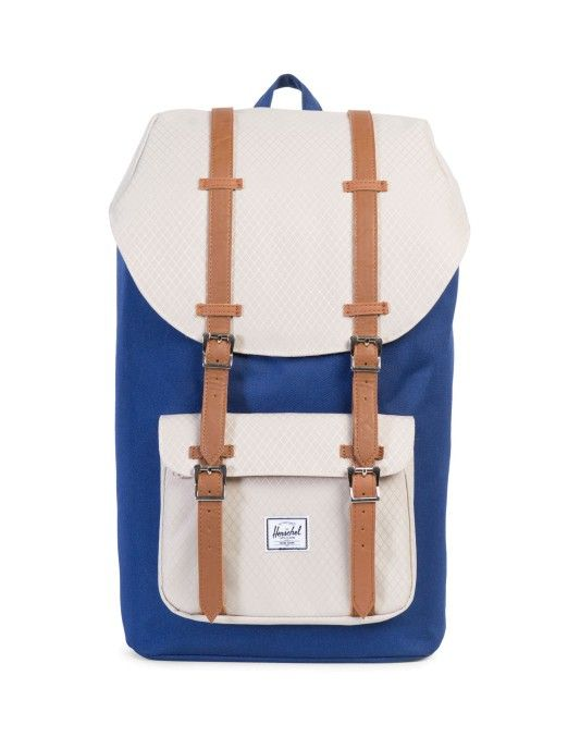 Herschel Little America Backpack Blue & Off White ON SALE NOW | Shop all sale at The Idle Man | #StyleMadeEasy