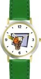 Best Buy Basketball, Hoop, Backboard, Swish Basketball Theme - WATCHBUDDY® DELUXE TWO-TONE THEME WATCH - Arabic Numbers - Green Leather  Special offers - http://greatcompareshop.com/best-buy-basketball-hoop-backboard-swish-basketball-theme-watchbuddy-deluxe-two-tone-theme-watch-arabic-numbers-green-leather-special-offers