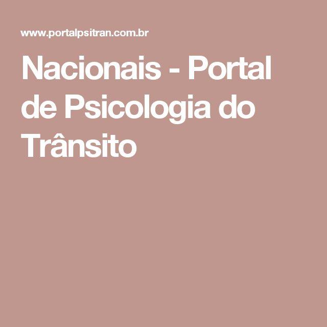 Nacionais - Portal de Psicologia do Trânsito