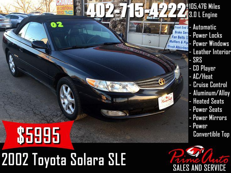 2002 Toyota Solara Call us today! 4027154222 toyota