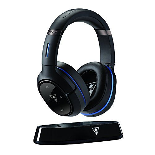 Turtle Beach Elite 800 Premium Wireless Surround Sound Noise Cancellation Gaming Headset for PS4 Pro/PS4/PS3, Black  Enhanced DTS Surround Sound Modes & Presets - Custom DTS HeadphoneX 7.1 Surround Sound modes combine with enhanced Turtle Beach genre-specific presets to further immerse you in your favorite games, movies and music  Dynamic Chat Boost - Communicate game-winning plays to your squad clearly thanks to automatically boosted team chat audio  Active Noise-Cancellation - Comple...