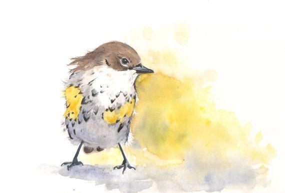 Bird Watercolor   Archival Print of watercolor di LouiseDeMasi