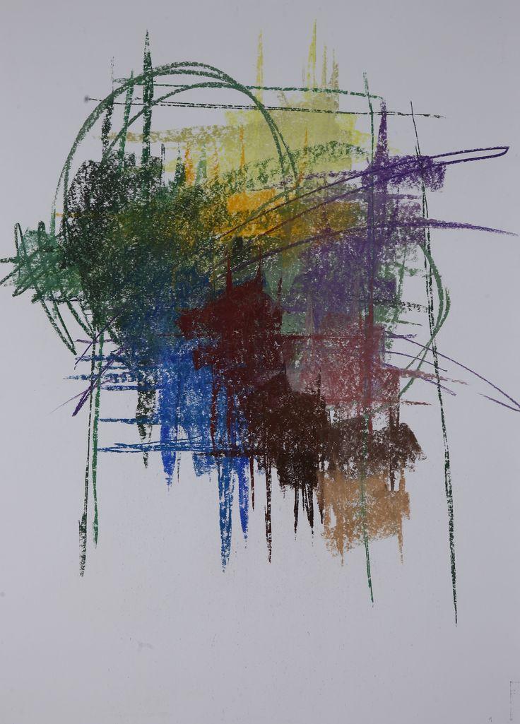 Michael Třeštík, 400 colors on 10 sheets, series II, No. 1, 2016, pastel A1
