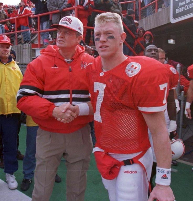 Coach osborn and scott frost cornhuskers football