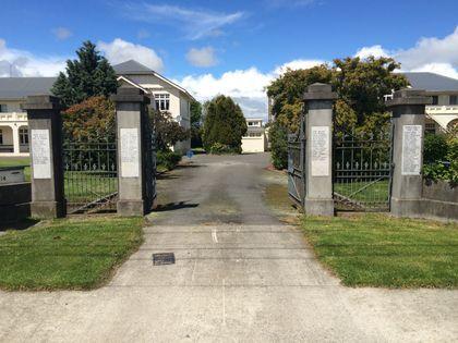 Gore High School War Memorial Gates - Historypin | Walking with an Anzac