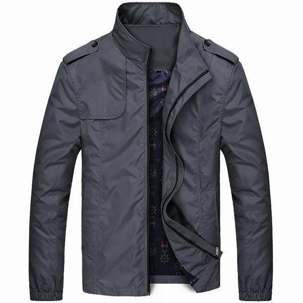 Lightweight Mens Water Repellent Stand Collar Jacket at Banggood