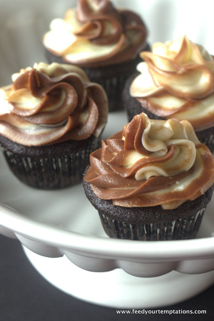 Chocolate Espresso cupcakes with Nutella and cream cheese swirl Recipe ...