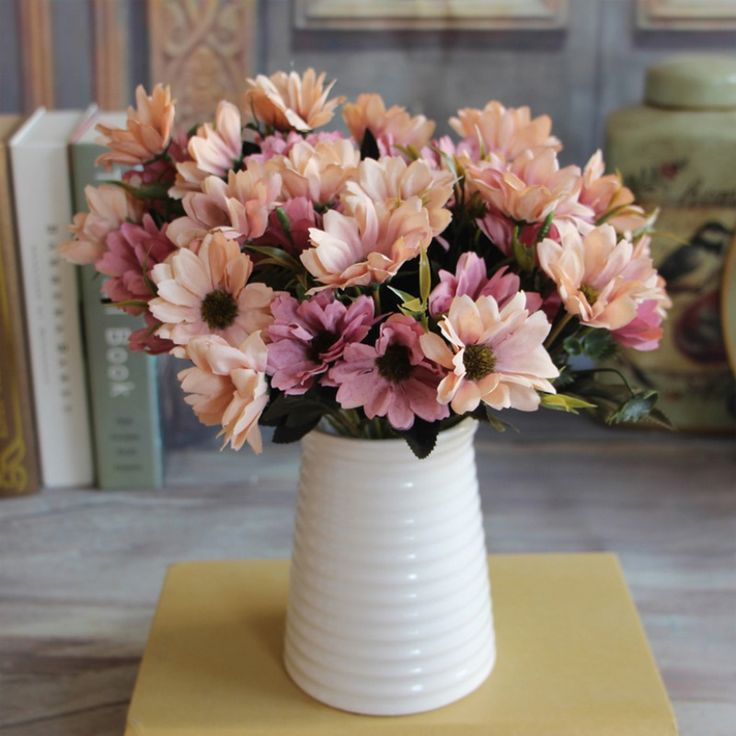 1pcs/10 Heads European Floral Artificial Daisy Silk Flower Bouquet Spring Daisy For Wedding decoration Cheap Fake Daisy Flowers-in Decorative Flowers & Wreaths from Home & Garden on Aliexpress.com | Alibaba Group