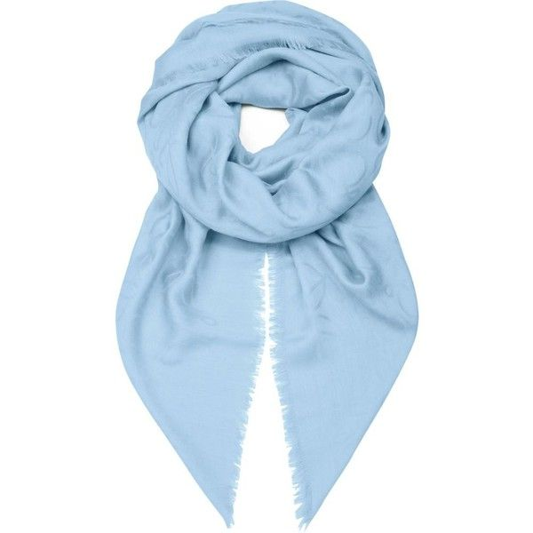 LOEWE Anagram jacquard scarf ($380) ❤ liked on Polyvore featuring accessories, scarves, coral and loewe