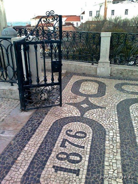 "The famous Portuguese cobblestone pavement (""calcadas"") ~ photo by Sabine Ostermann www.pure-image.eu"