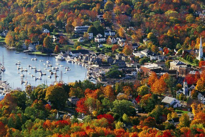 Новая Англия осенью. США.