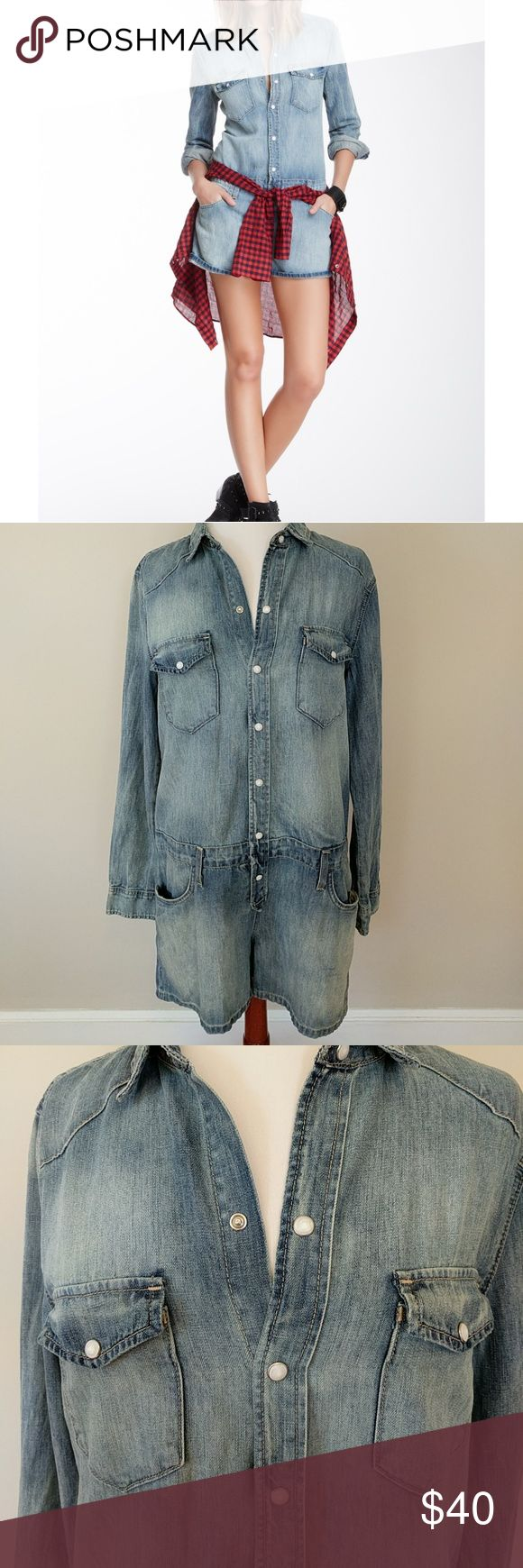 Joe's Denim romper NWT 💥💥1 DAY SALE💥 Blue, denim, snap button down, size 28, NWT Joe's Jeans Jeans