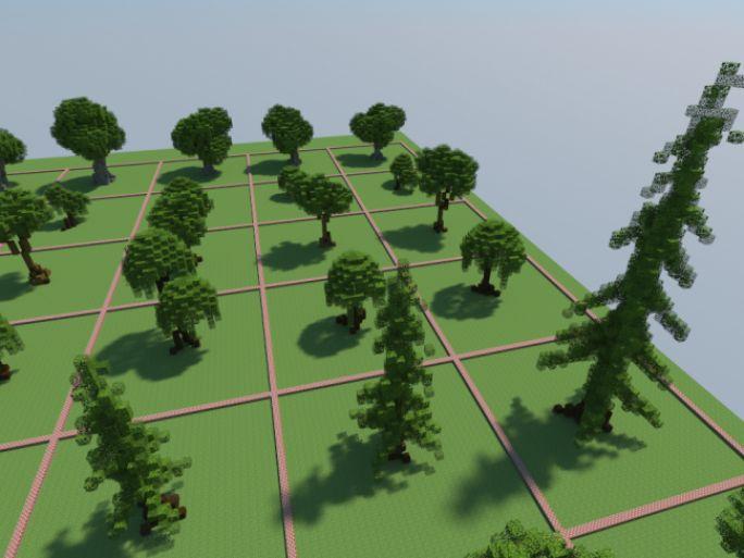 Psykovsky Tree Bundle Minecraft Map In 2021 Minecraft Tree Minecraft Projects Minecraft