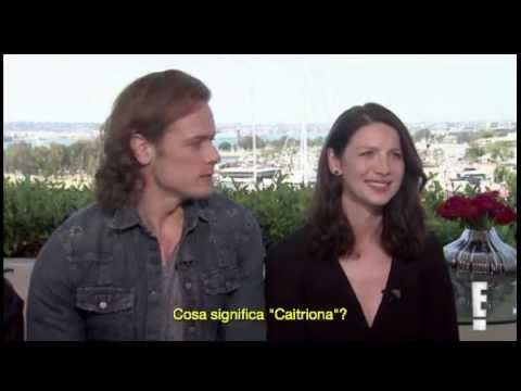 "[SUB ITA] ""Is Sam Heughan Single. Does Caitriona Balfe have a sister?"""