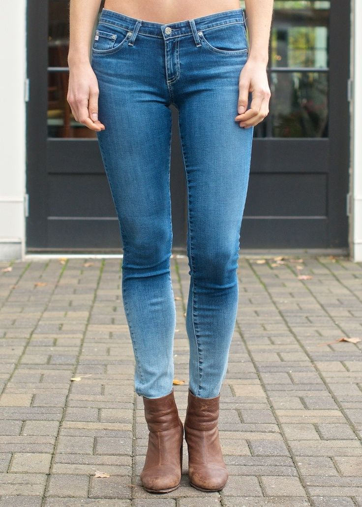 Skinny Jean with Stepped Hem and Shadow Pocket Detail - Sky denim Arrive rjmww3r