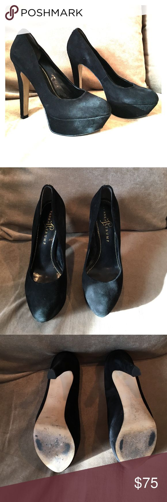 "Black suede platform pumps Ivanka Trump black suede platform pumps. 5"" heel, 1.5"" platform. Excellent condition, worn 1 time. Size 8.5 Ivanka Trump Shoes Heels"