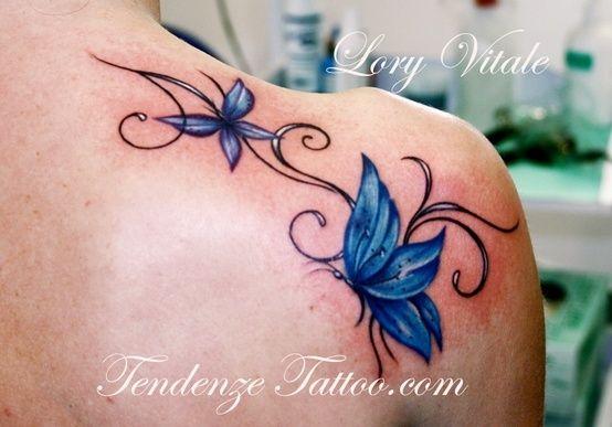 25 best ideas about blue butterfly tattoo on pinterest for Immagini tatuaggi spalla