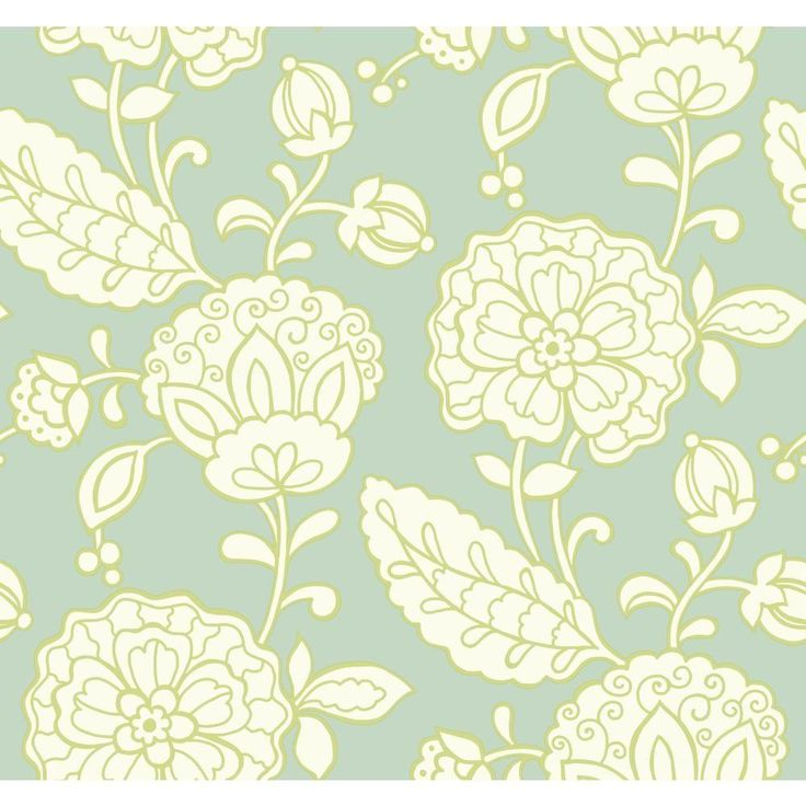 York Wallcoverings 60.75 sq. ft. Carey Lind Vibe Chunky Floral Wallpaper-EB2060 - The Home Depot