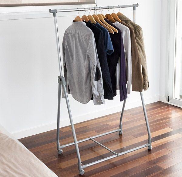 Gurulós ruhatároló állvány az egyszerű és átlátható divatos...-Akciós ár:7990 Ft
