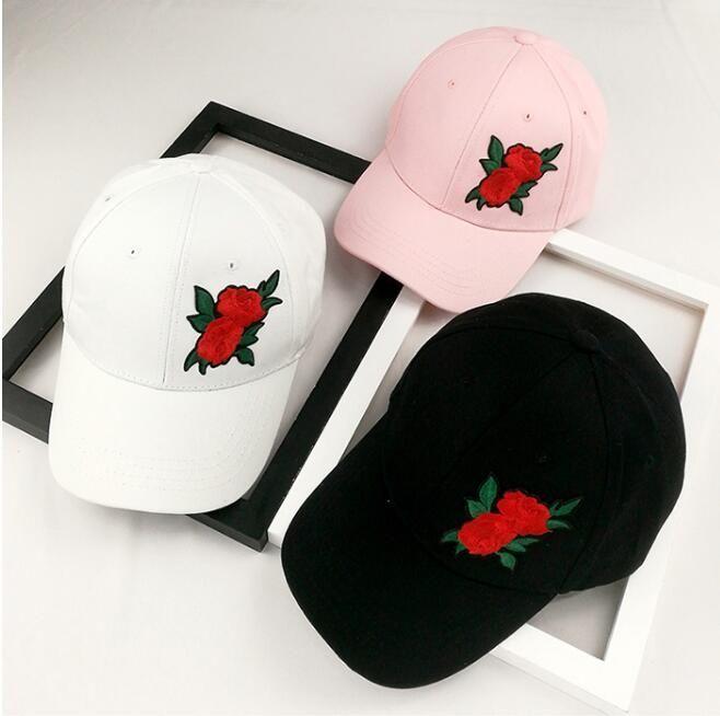 711dcb8fc95 Summer rose flower Korean baseball cap lady